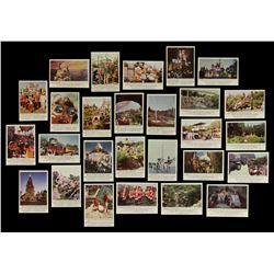 1965 RARE Complete DONRUSS DISNEYLAND Photo Card Set - Picture Backs