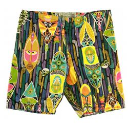Disneyland - Vintage ENCHANTED TIKI ROOM Boy's Swimming Trunks- PATTERN C