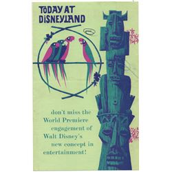 GATE FLYER - Today at Disneyland: Tiki Room World Premiere OPENING DAY