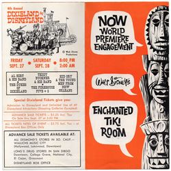GATE FLYER - NOW WORLD PREMIERE ENGAGEMENT: Walt Disney's Enchanted Tiki Room