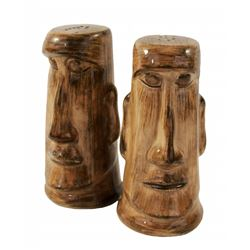 1956 Disneyland ADVENTURELAND MOAI TIKI Salt & Peper Shakers