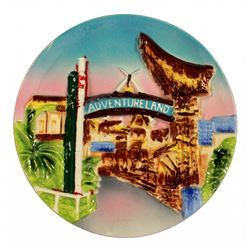 "1955 Disneyland ""3-D"" ADVENTURELAND Decorative Wall Plate"