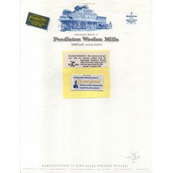 Disneyland PENDELTON WOOLEN MILLS Exhibit Original Stationary and Tag Set by E-TICKET MAGAZINE