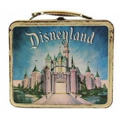 1958 Disneyland CASTLE/JUNGLE CRUISE Lunch Box with Thermos