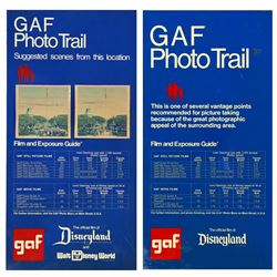 1970s Disneyland GAF PHOTO TRAIL Signs