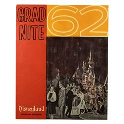 GRAD NITE '62 Souvenir Fold Out Program