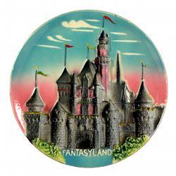 "1955 Disneyland ""3-D"" FANTASYLAND Castle Decorative Wall Plate"