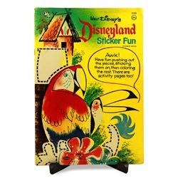 Disneyland 1964 STICKER FUN BOOK