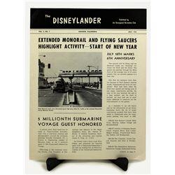The DISNEYLANDER MAGAZINE Backstage Cast Member Publication - SEPTEMBER 1960