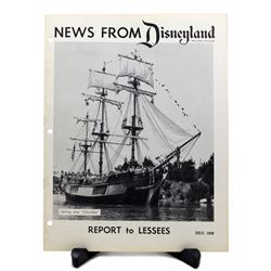 NEWS FROM DISNEYLAND Report to Lessees Booklet