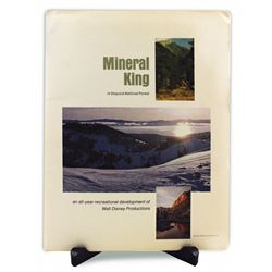 The Disney Plans for MINERAL KING Complete Press Kit
