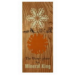 The Disney Plans for MINERAL KING Information Pamphlet
