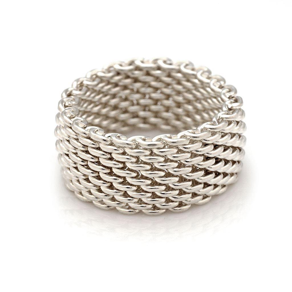 fbd2913f12adc Tiffany & Co. Sterling Silver Mesh Ring