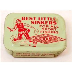 VINTAGE BEST LITTLE SINKERS ADVERTISING TIN