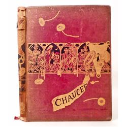 """1876 """"CHAUCER FOR CHILDREN"""" HARDCOVER BOOK"""