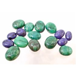 LOT OF 98.2 CTS OF SAPPHIRES & EMERALDS