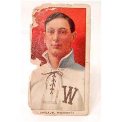 1909-11 T206 CYCLE BASEBALL CARD - UNGLAUB, WASHINGTON SENATORS