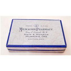 VINTAGE MILWAUKIE OREGON PHARMACY PILL BOX