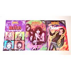 LOT OF 3 VINTAGE ROCK N' ROLL COMIC BOOKS