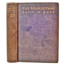 """1923 """"THE LOOKOUT MAN"""" SCARCE STEAMSHIP TRAVEL HARDCOVER BOOK"""