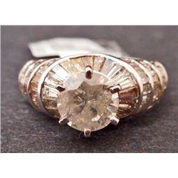 18KT WHITE GOLD LADIES DIAMOND UNITY RING W/ APPRAISAL - SIZE 6.75