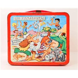 1971 THE FLINTSTONES PEBBLES & BAM BAM ALADDIN METAL LUNCHBOX