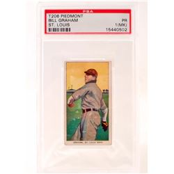 1909-11 T206 PIEDMONT BILL GRAHAM BASEBALL CARD - PSA PR1
