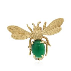 14KT Yellow Gold 1.72 ctw Agate Bee Pin