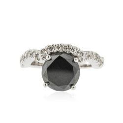 14KT White Gold 3.11 ctw Black Diamond Ring
