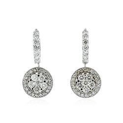 14KT White Gold 3.41 ctw Diamond Earrings