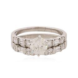 14KT White Gold 1.33 ctw Diamond Ring Wedding Set