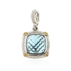Sterling Silver 11.55 ctw Topaz and Diamond Pendant