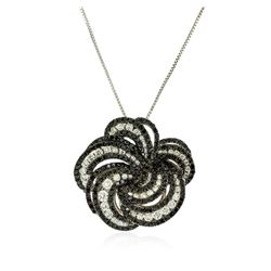 14KT White Gold 2.00 ctw Diamond Pendant With Chain