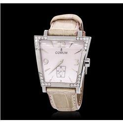Stainless Steel 0.85 ctw Diamond Corum Trapeze Wristwatch