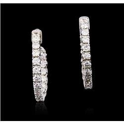 14KT White Gold 2.17 ctw Diamond Earrings