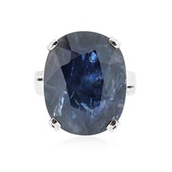 18KT White Gold 25.99 ctw Sapphire and Diamond Ring