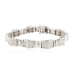 14KT White Gold 6.46 ctw Diamond Bracelet