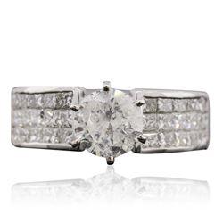 18KT White Gold 3.45 ctw Diamond Ring