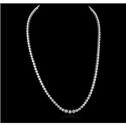 14KT White Gold 5.14 ctw Diamond Necklace