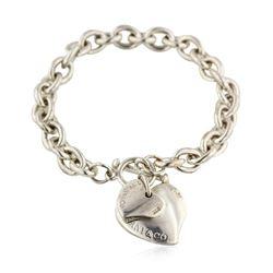 Tiffany & Co. Sterling Silver Twin Heart Tag Bracelet