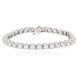 14KT White Gold 6.80 ctw Diamond Tennis  Bracelet