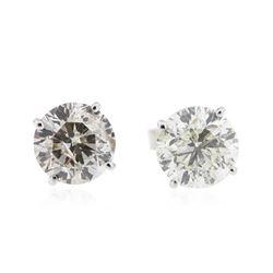 14KT White Gold 2.70 ctw Diamond Stud Earrings