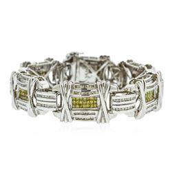 14KT White Gold 12.50 ctw Diamond Bracelet