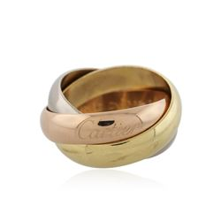 Cartier 18KT Tri-Tone Gold Trinity Ring