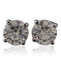 14KT White Gold 5.05 ctw Diamond Stud Earrings