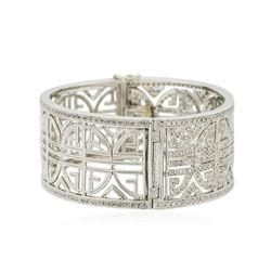 14KT White Gold 1.59 ctw Diamond Bangle Bracelet