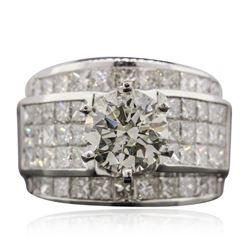 18KT White Gold 4.64 ctw Diamond Ring