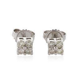 14KT White Gold 0.49 ctw Diamond Earrings