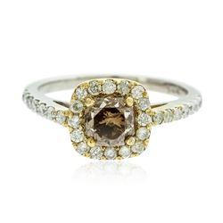14KT White Gold EGL USA Certified 1.49 ctw Fancy Brown Diamond Ring