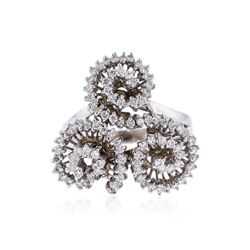 14KT White Gold 0.74 ctw Diamond Ring